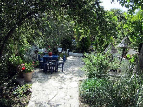 Bakkhos Guesthouse: Sitzecke im Garten