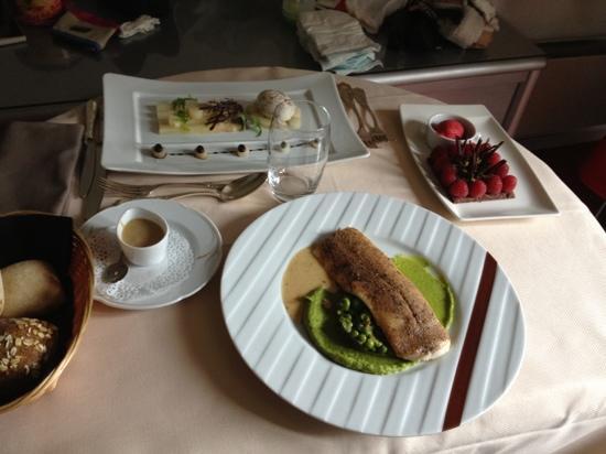 Restaurant B. Collon -  Auberge de Letraz: our in-room lunch