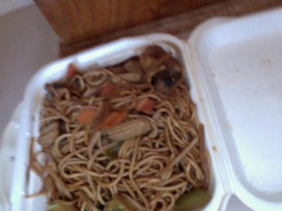 Wadesboro, Северная Каролина: same pictures lo mein vegetables not fresh and very salty