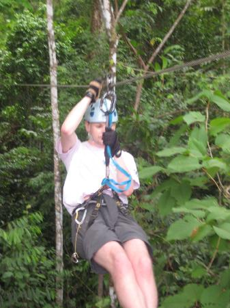 Corcovado Canopy Tour: Arriving at the platform