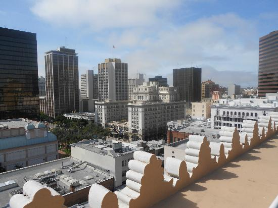 Gaslamp Plaza Suites: View from Top of the hotel