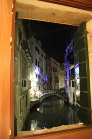 Riva: corner room view at night