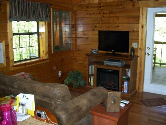 Getaway Cabins: Living room area