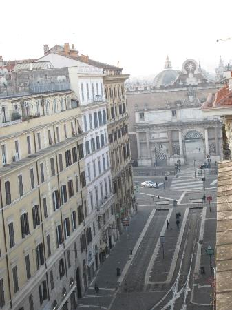 River Palace Hotel : View to Piazza del Popolo