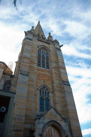 Presbyterian Church of St. Andrew: The towering church tower