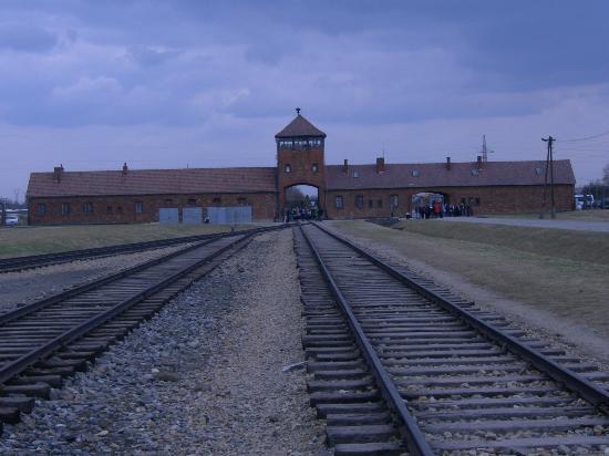 Krakow Tours by Point Travel DMC : Entance to Auschwitz - Birkenau from inside camp
