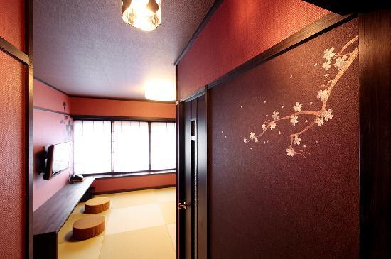 Goyokan: 【櫻の間】愛らしい櫻色の壁がカップルに人気の7.5畳和室(定員2名様)