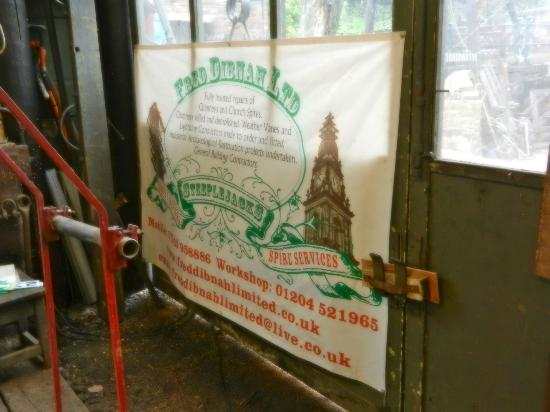 Fred Dibnah Heritage Centre: Fred's advertising banner