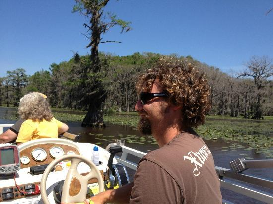 Graceful Ghost Steamboat: Captain Byron on Caddo Lake