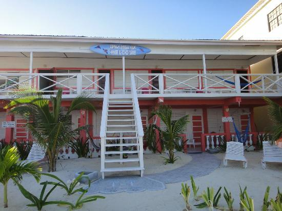 Conch Shell Inn : This is the looking at the hotel from the beach