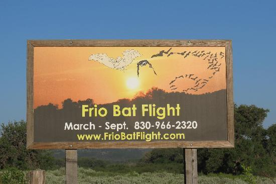 Frio Cave: Frio Bat Cave entrance sign