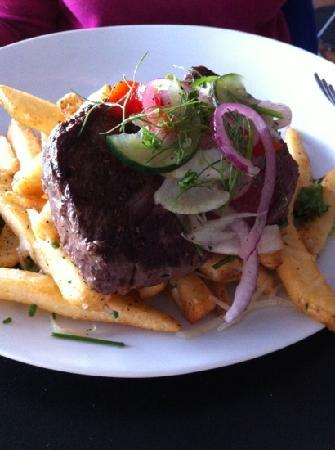 The Southern Mansion: steak with duck fat fries