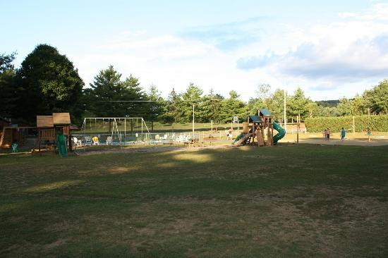 Lake George Riverview Campground: view of play area