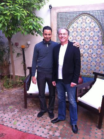 Riad Cannelle: Badr and Carl on our last day