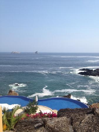 Capella Ixtapa: view fm the suite