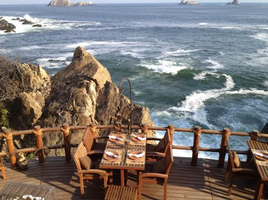 Capella Ixtapa: terrace restaurant view!!!