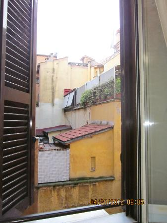 Basilio 55 Rome: View from our room looking out.