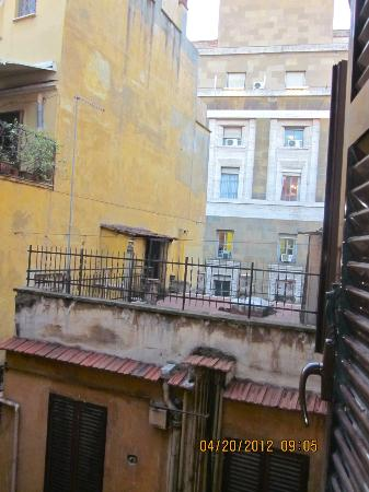 Basilio 55 Rome: View from our window in our room leaning out.