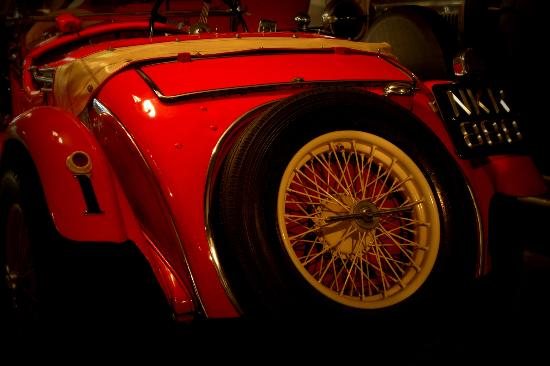 Canadian Automotive Museum: One of the vintage automobiles on display.