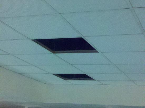 DoubleTree by Hilton Hotel Colorado Springs : Missing Ceiling Tiles Above The Pool