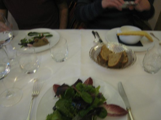 Our appetizers at Le Dodin