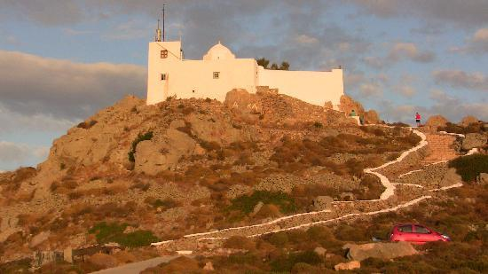 Chapel of Profitis Ilias: Profitis Ilias view of Hora