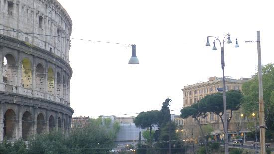 Imperial Rooms: View from my room (Colosseo on the left)