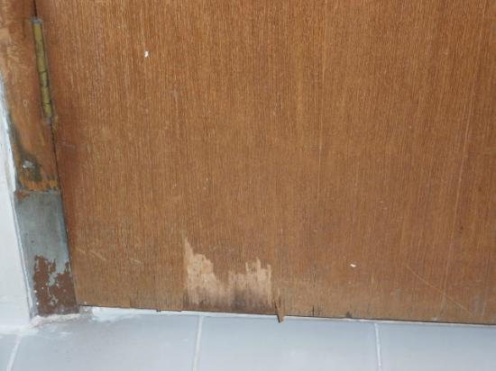 Royal Tulip Saranam Resort & Spa: Peeling bathroom door