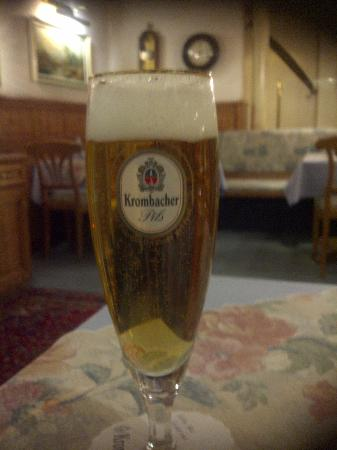 Hotel Restaurant Linde: Beer available