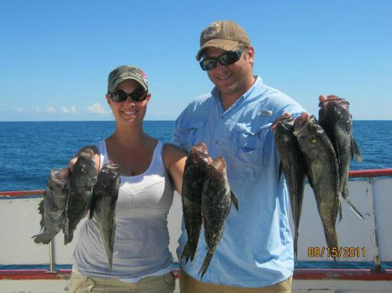 Todd and i caught our limit of black sea bass picture for Florida fishing license military