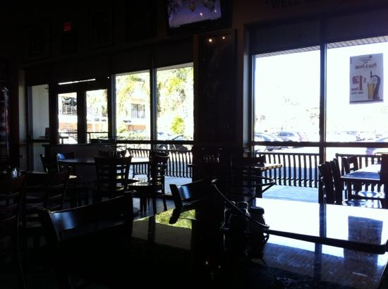 Anthony's Coal Fired Pizza : view outside from inside