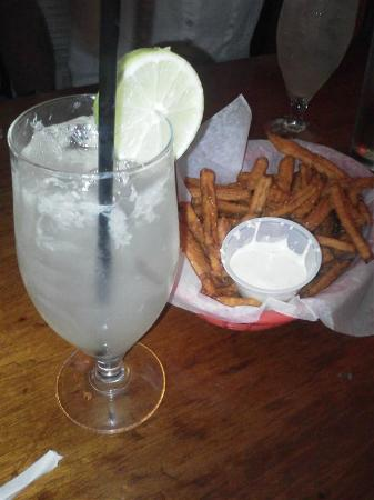 The Top: Sweet Potato Fries and a Fresh Squeezed Margarita!!