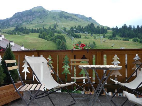 HOTEL RESTAURANT L'ALPAGE : Vue du balcon