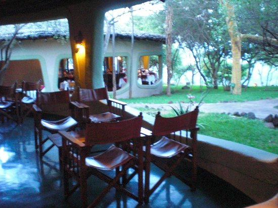 Lake Manyara Serena Lodge: View from bar / lounge to dining area