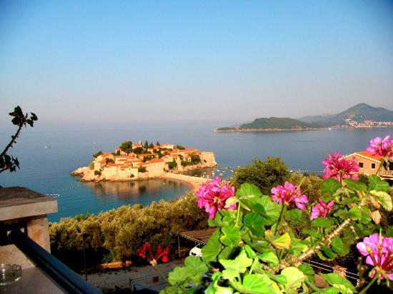 Vila Drago: Вид на остров Св. Стефана