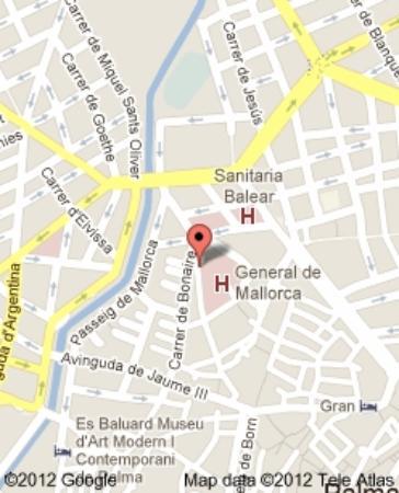 Stadtplan von Palma Innenstadt, Bodega SANTURCE
