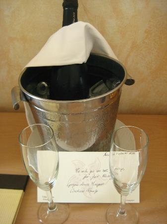 Romantic Hotel Villa Pagoda: Complimentry Prosecco for our honeymoon.