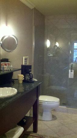 Harbour House Hotel: Frameless glass door walk in shower