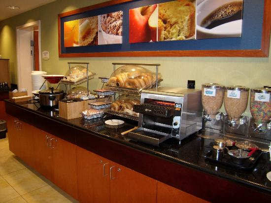 Fairfield Inn & Suites St. Augustine I-95: le petit déjeuner