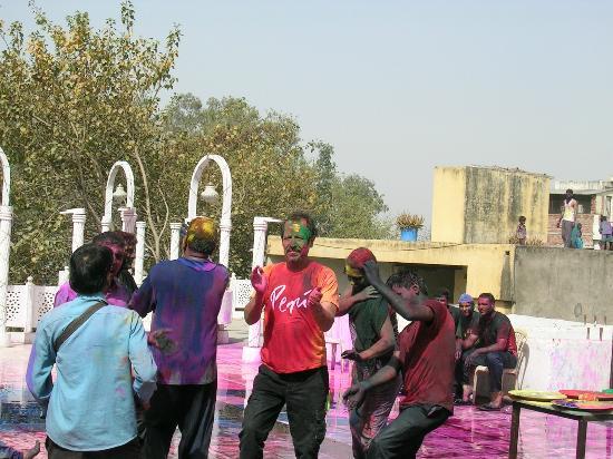 Hotel Daawat Palace: beim Holi Fest
