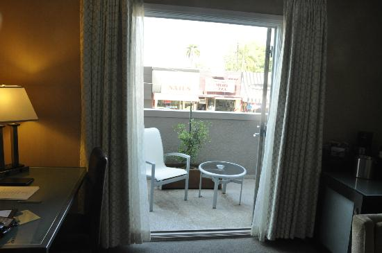 The Orlando Hotel: View out to the patio