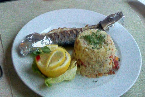 Hotel Escalade Poiana Brasov: Excellent fish and rice
