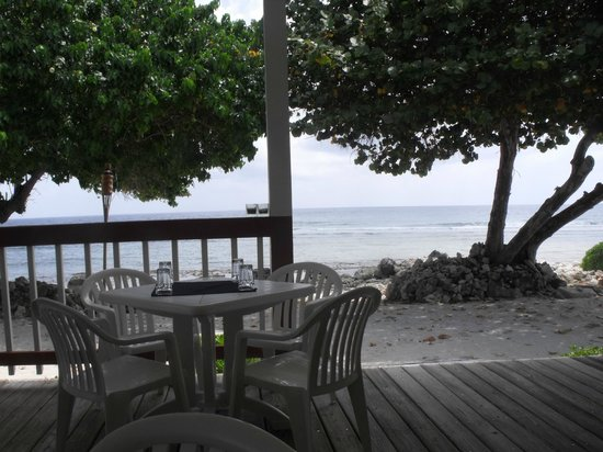 Paradise Villas: View from the lunch table at the Hungry Iguana