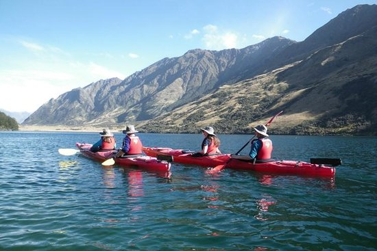 Queenstown Sea Kayaks: The four of us on the way out