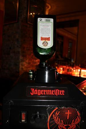 Euro Youth Hotel: Jagermeister on tap in the bar