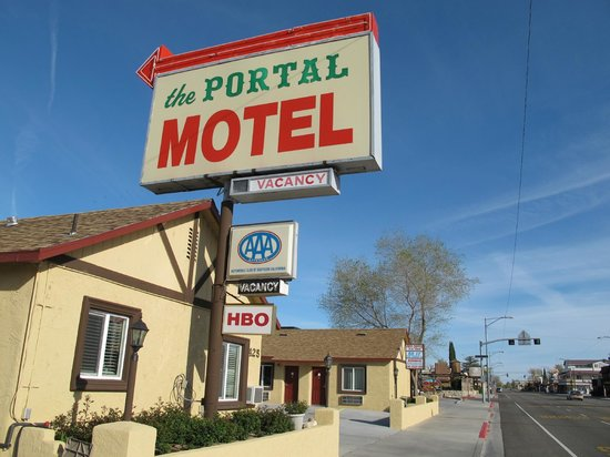 Portal Motel: the motel sign