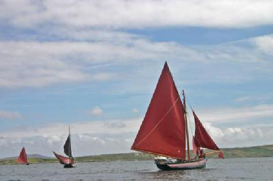 Traditional sailing boats in Roundstone Bay