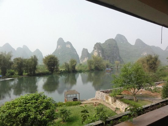 Yangshuo Mountain Retreat: View from balcony of room 201A