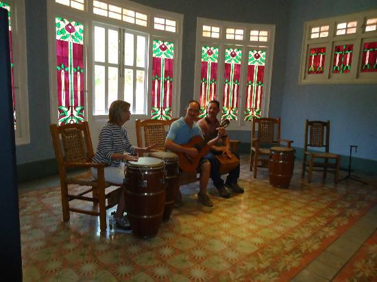 Museum of Puerto Rico Music: Museum guide took pic of us jamming with private guide