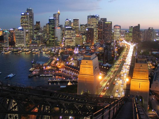 Sydney Harbour - view from the bridge